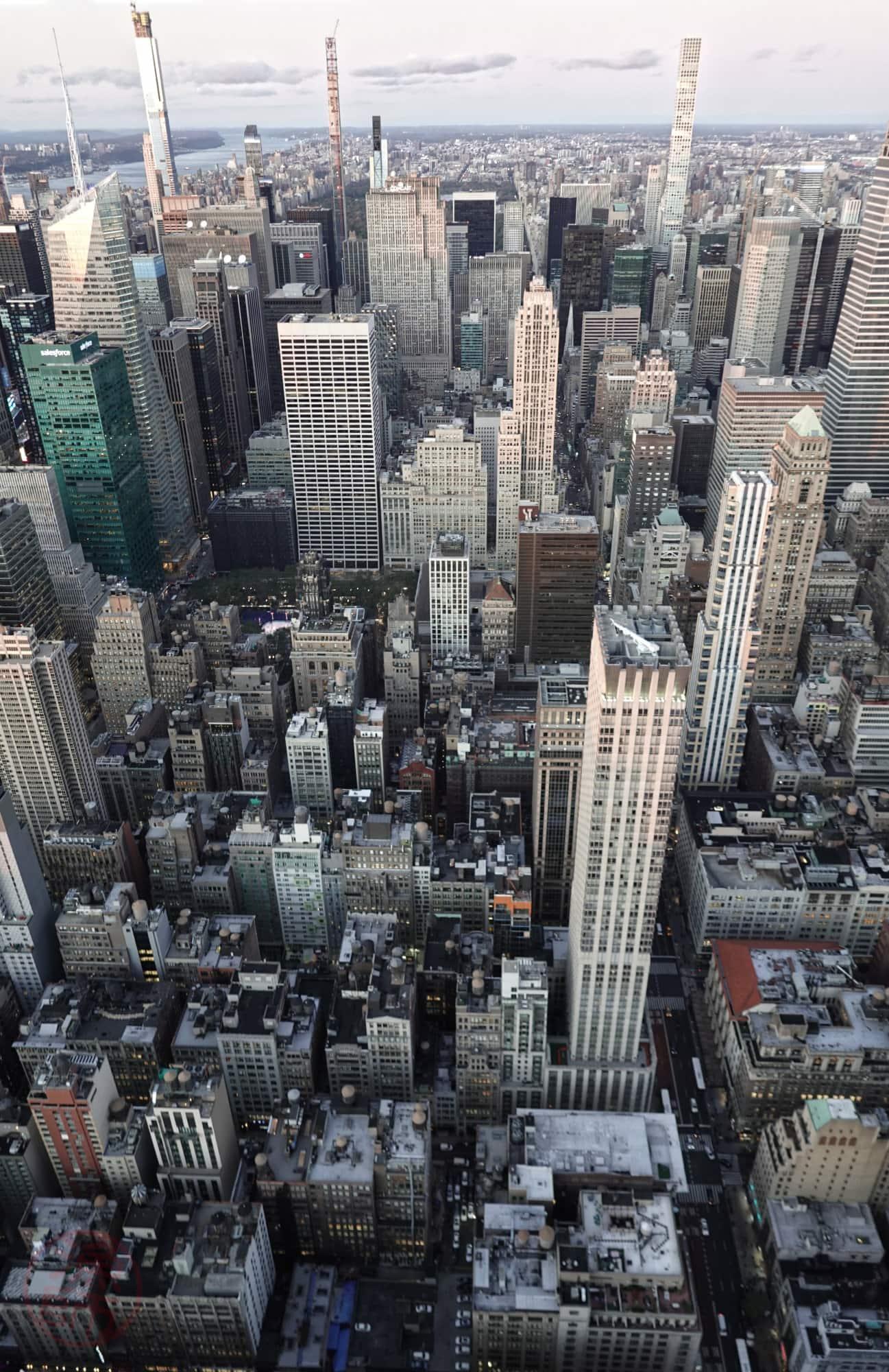 Kilátás az Empire States Building tetejéről