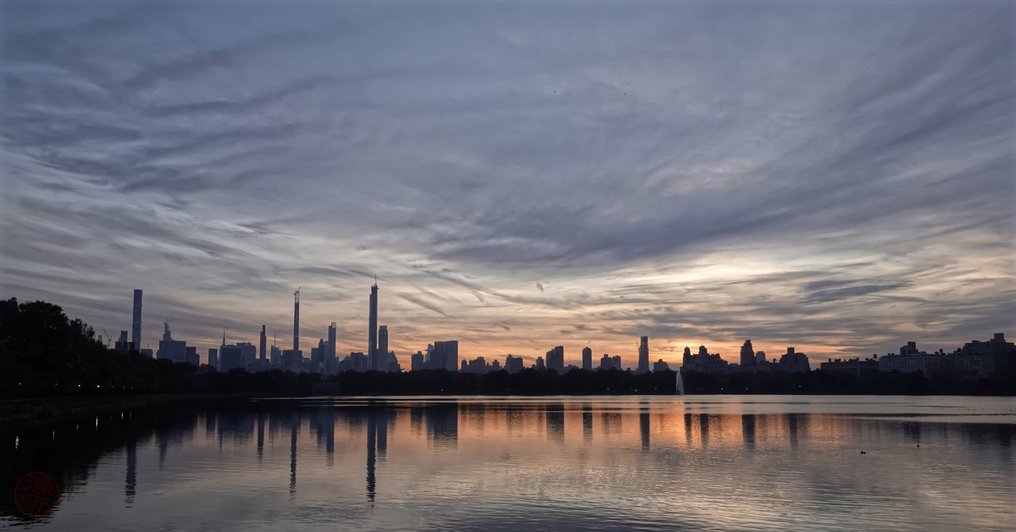 Dusk in the Central Park